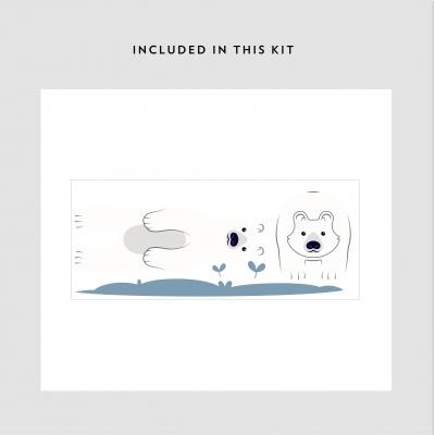 Polar Bears Printed Wall Decal Kit