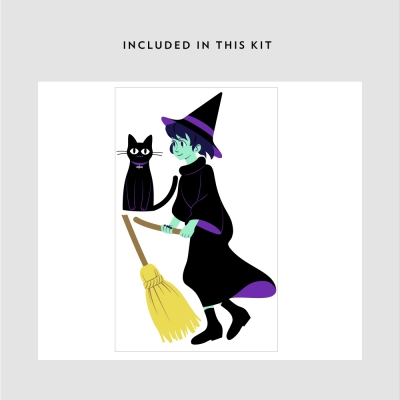 Cat, Broom, & Witch Kit