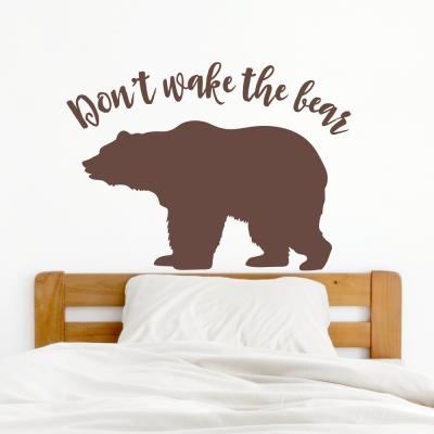 Don't Wake Bear Wall Decal