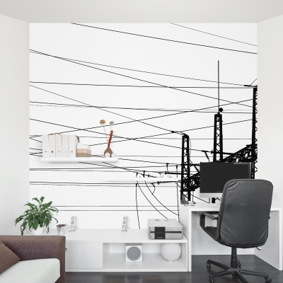 Electricity Plant Wall Mural
