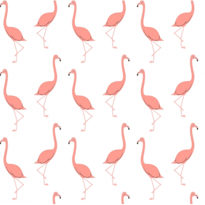 Flamingo Removable Wallpaper Tiles