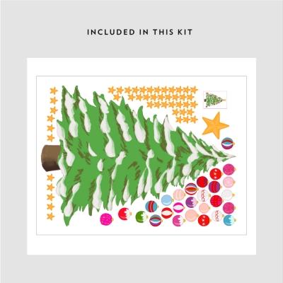 Christmas Tree Printed Decal Kit