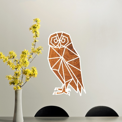 Geometric Owl Printed Wall Decal