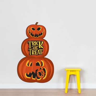 Jack O Lantern Stack Wall Decal
