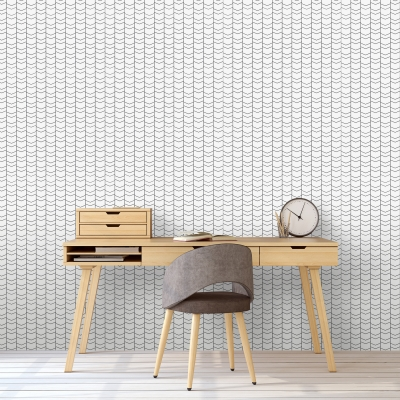 Lined Chevron Removable Wallpaper Tiles