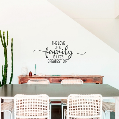 Love of a Family Wall Quote Decal
