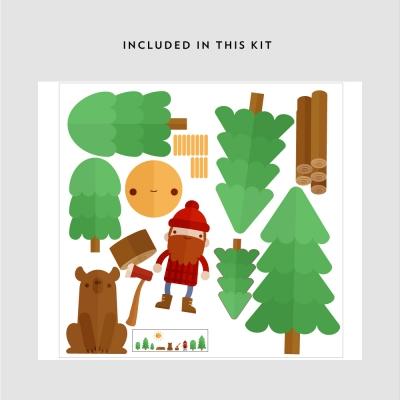 Lumberjack Wall Decal Kit