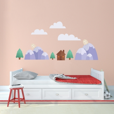 Lumberjack Forest Printed Wall Decal