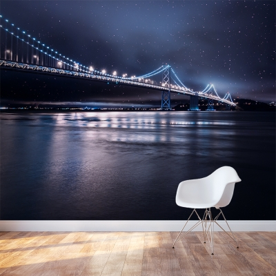 Night Bridge Wall Mural