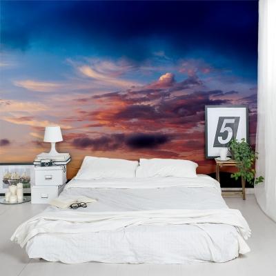 Hilltop Sunset Wall Mural