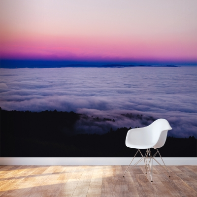 Cloudy Sunset Wall Mural