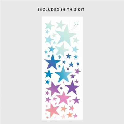 Kit for Ombre Stars Printed Wall Decal