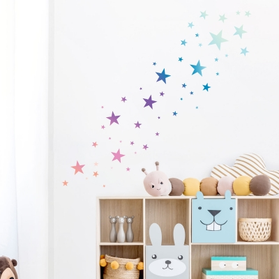 Ombre Stars Printed Wall Decal