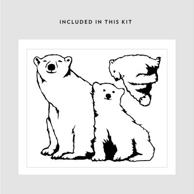 Printed Polar Bear Family Kit