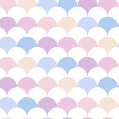 Scallop Removable Wallpaper Tiles