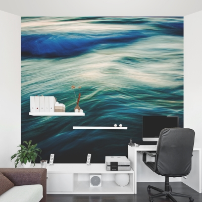 The Uniqueness of Waves V Wall Mural