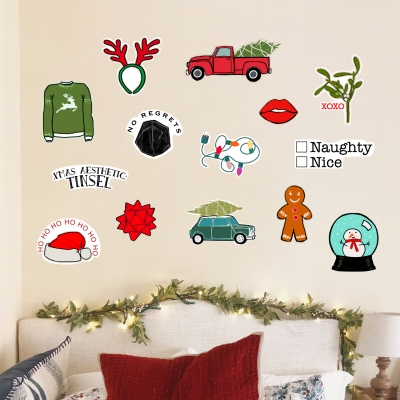 VSCO Xmas Printed Wall Decal