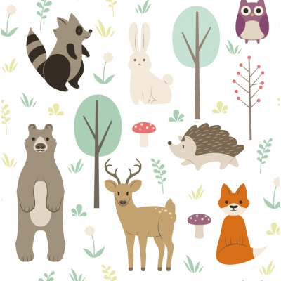 Woodland Removable Wallpaper Tiles