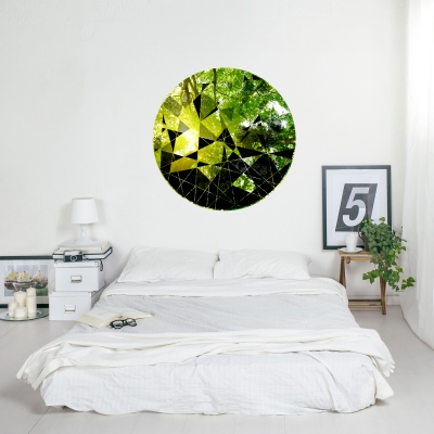FOREST - Circle Geometric Abstract Printed Wall Decal
