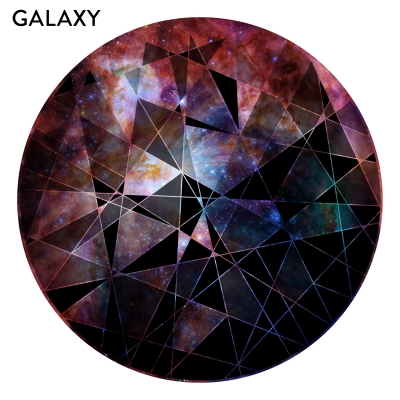 GALAXY - Circle Geometric Abstract Printed Wall Decal