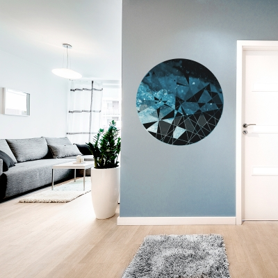 WATER - Circle Geometric Abstract Printed Wall Decal