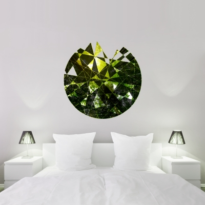 FOREST - Geometric Cutout Printed Wall Decal