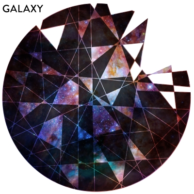 GALAXY - Geometric Cutout Printed Wall Decal