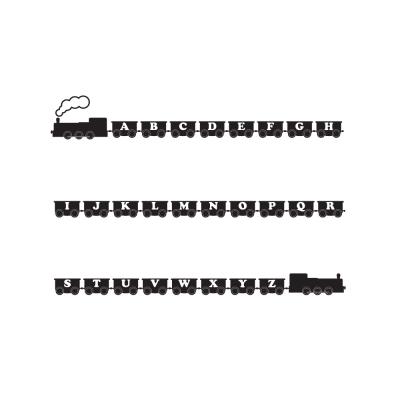 Alphabet Train Wall Decal