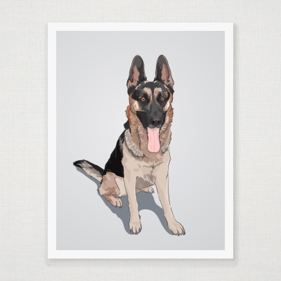 German Shepherd Wall Art Print