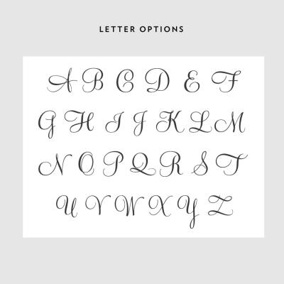 Monogram Laurel Wreath Letter Options