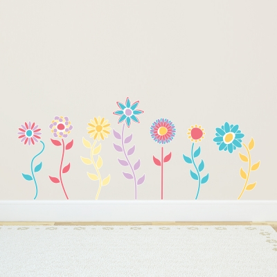 Spring Flowers - Printed Wall Decals