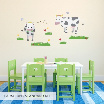 Farm Fun Printed Wall Decals