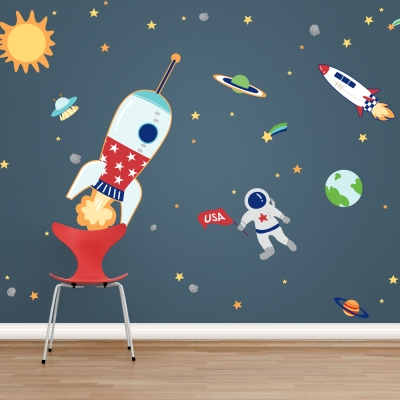 Space Adventures Printed Wall Decals