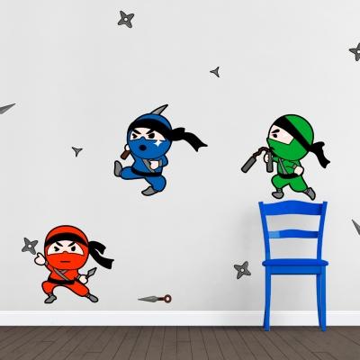 Ninja Kids Printed Wall Decal