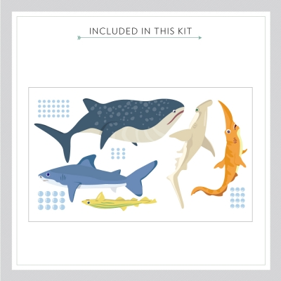 Shark Adventure Wall Decal Kit