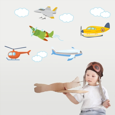 Plane Fun Printed Wall Decals