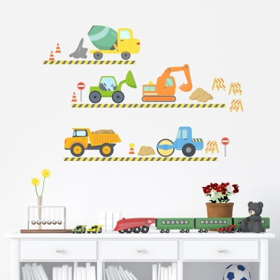 Construction Fun Printed Wall Decal