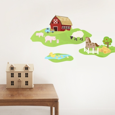 Barn Family Printed Wall Decal