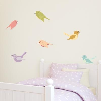 Cutesy Birds Printed Wall Decals