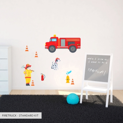 Firetruck Printed Wall Decal