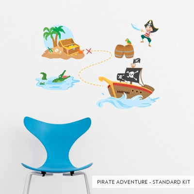 Pirate Adventure Printed Wall Decal