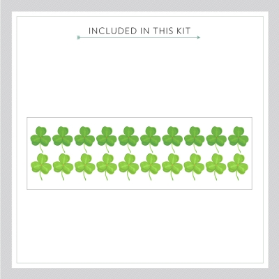 Shamrock Printed Wall Decal Kit