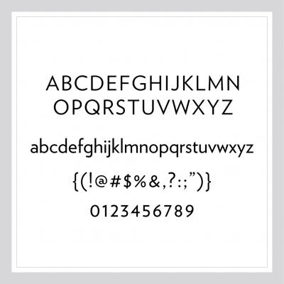 Veronica Sans - Custom Text Wall Decal