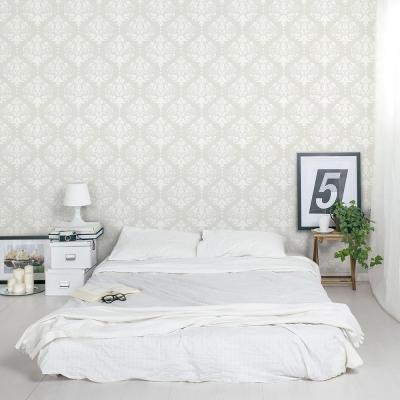 Damask Removable Wallpaper Tile Bedroom