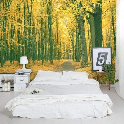 Golden Forest wall mural