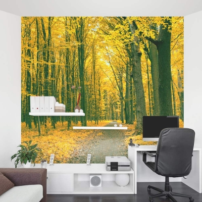Golden Forest wall mural