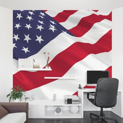 American Flag Office Wall Mural