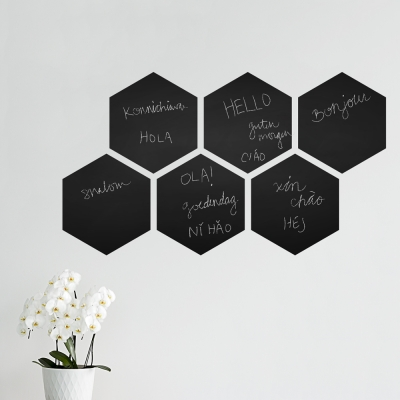 Hexagon Chalkboard Wall Decal