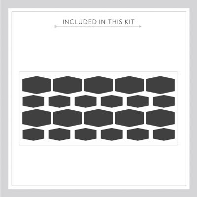 Hexagon Chalkboard Labels Kit