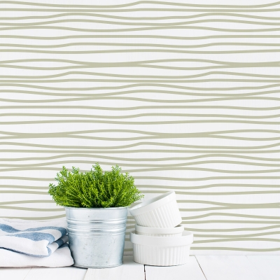 Squiggle It Removable Wallpaper Tiles